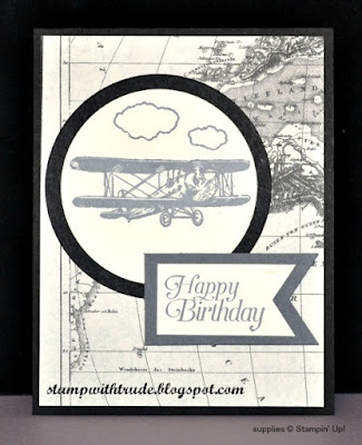 Sky is the Limit, Sale-A-Bration, Stampin Up, Stamp with Trude, Tuesday Tutorial, masculine birthday card