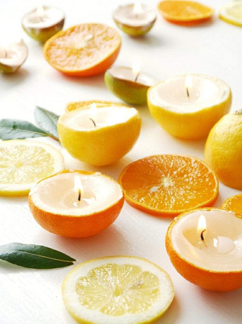 DIY Citrus Candles