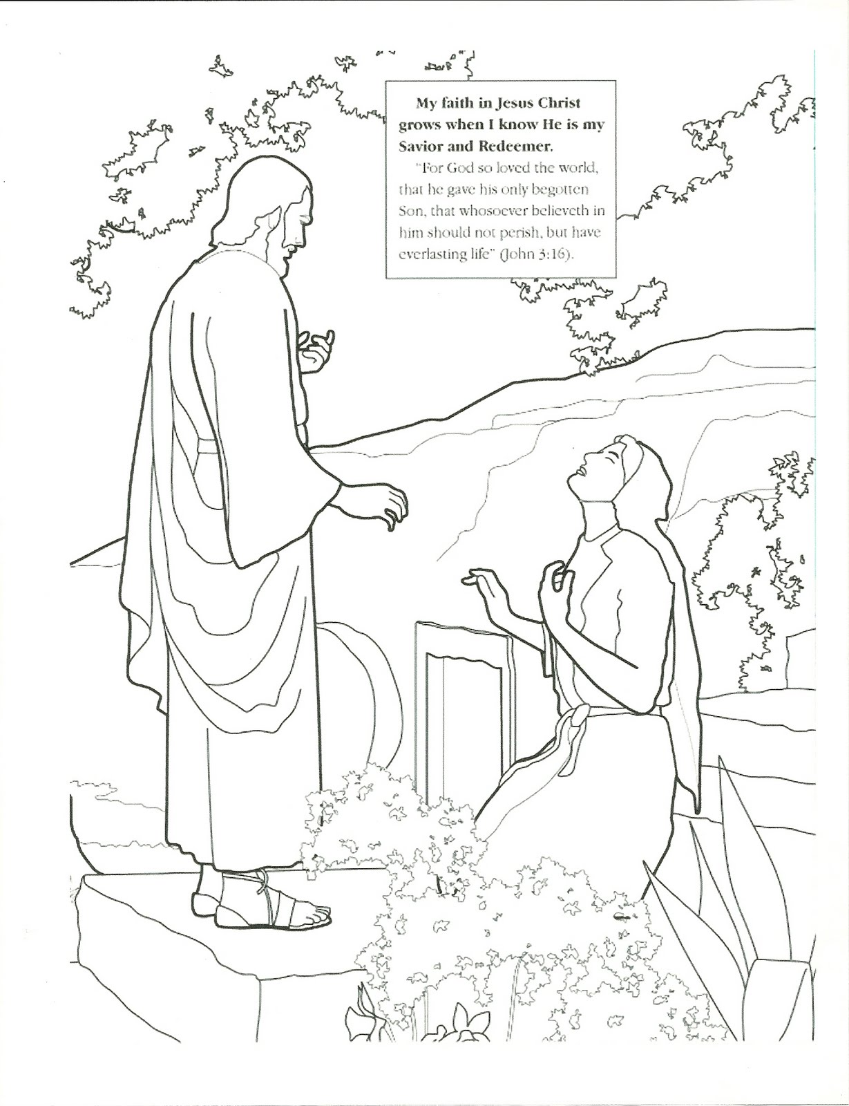 Lds Primary Easter Coloring Pages