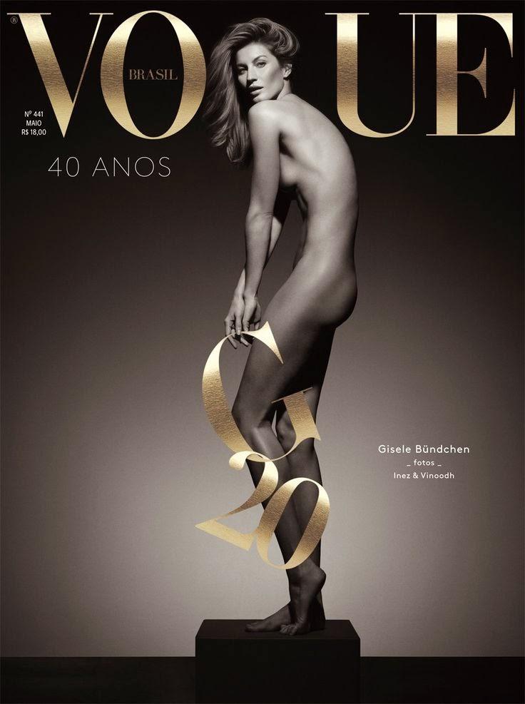 Gisele Bunchen capa da Vogue 40 anos