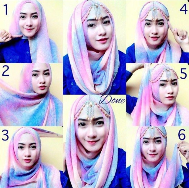 trend hijab pashmina kashmir modern terbaru