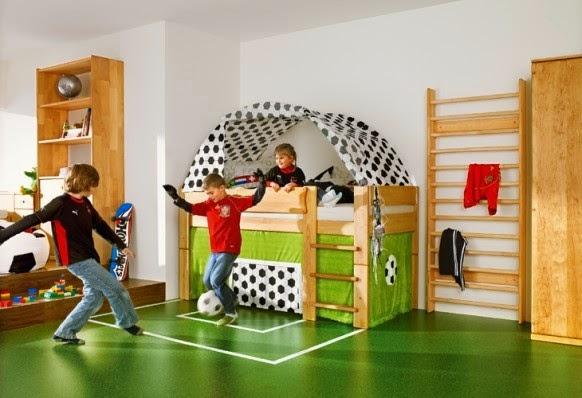 نتيجة بحث الصور عن غرف نوم أطفال بديكورات ملاعب كرة قدم