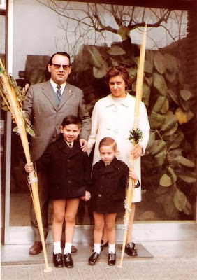 Lorenzo Ponce Sala con su familia en 1970