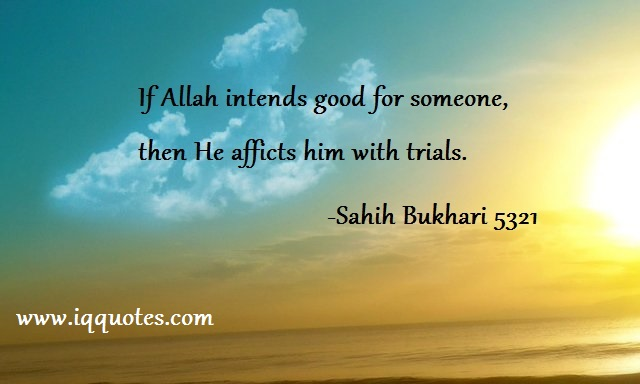 If Allah intends good for someone - Allah Quotes