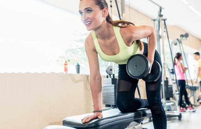 Reduce Back Fat Fast For Women- One Arm Dumbbell Row