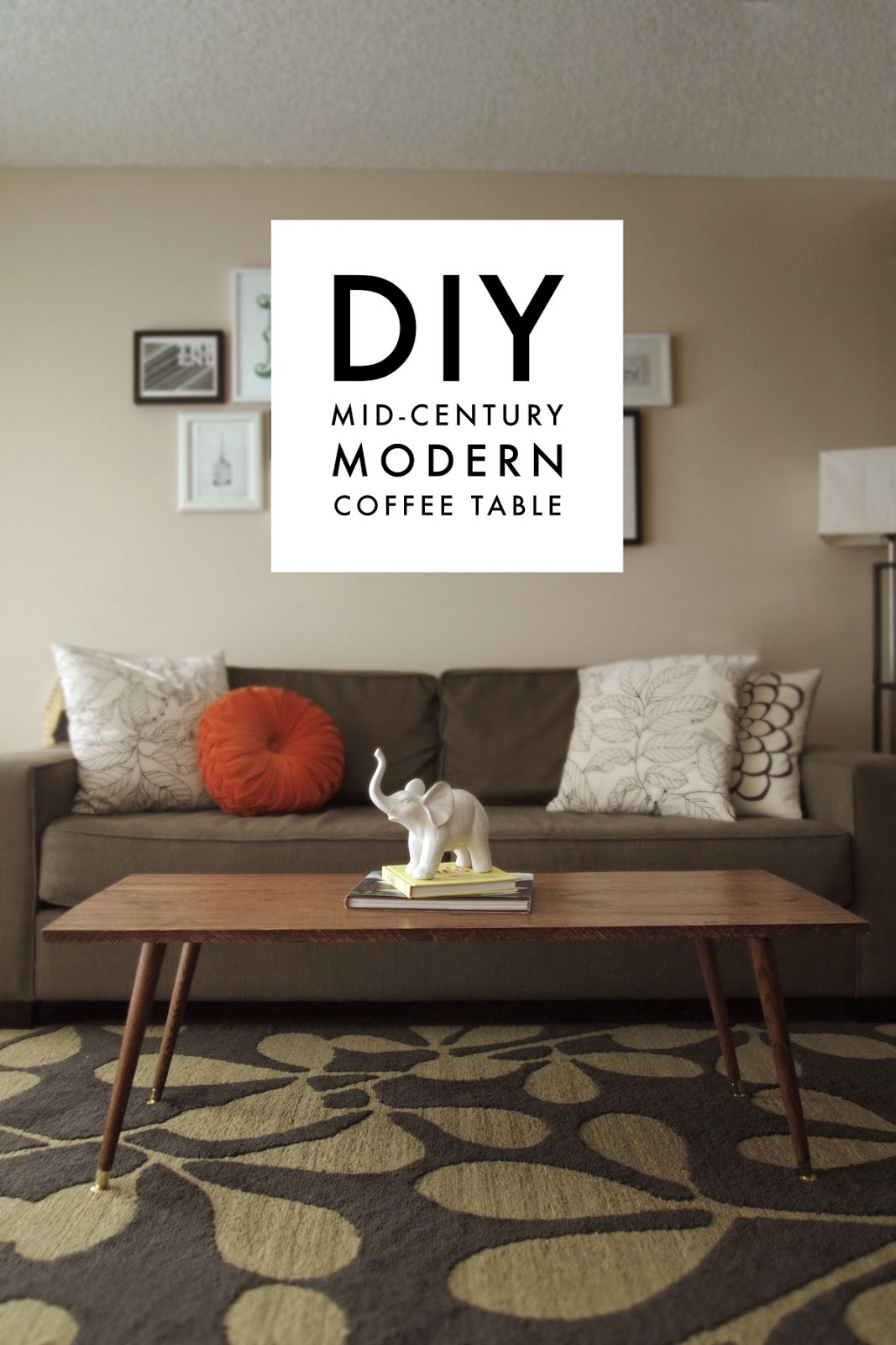 DIY Mid-Century Modern Coffee Table - A Pair of Pears
