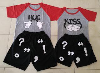 Jual Online CS Hug Kiss Couple Murah Jakarta Bahan Spandex Terbaru