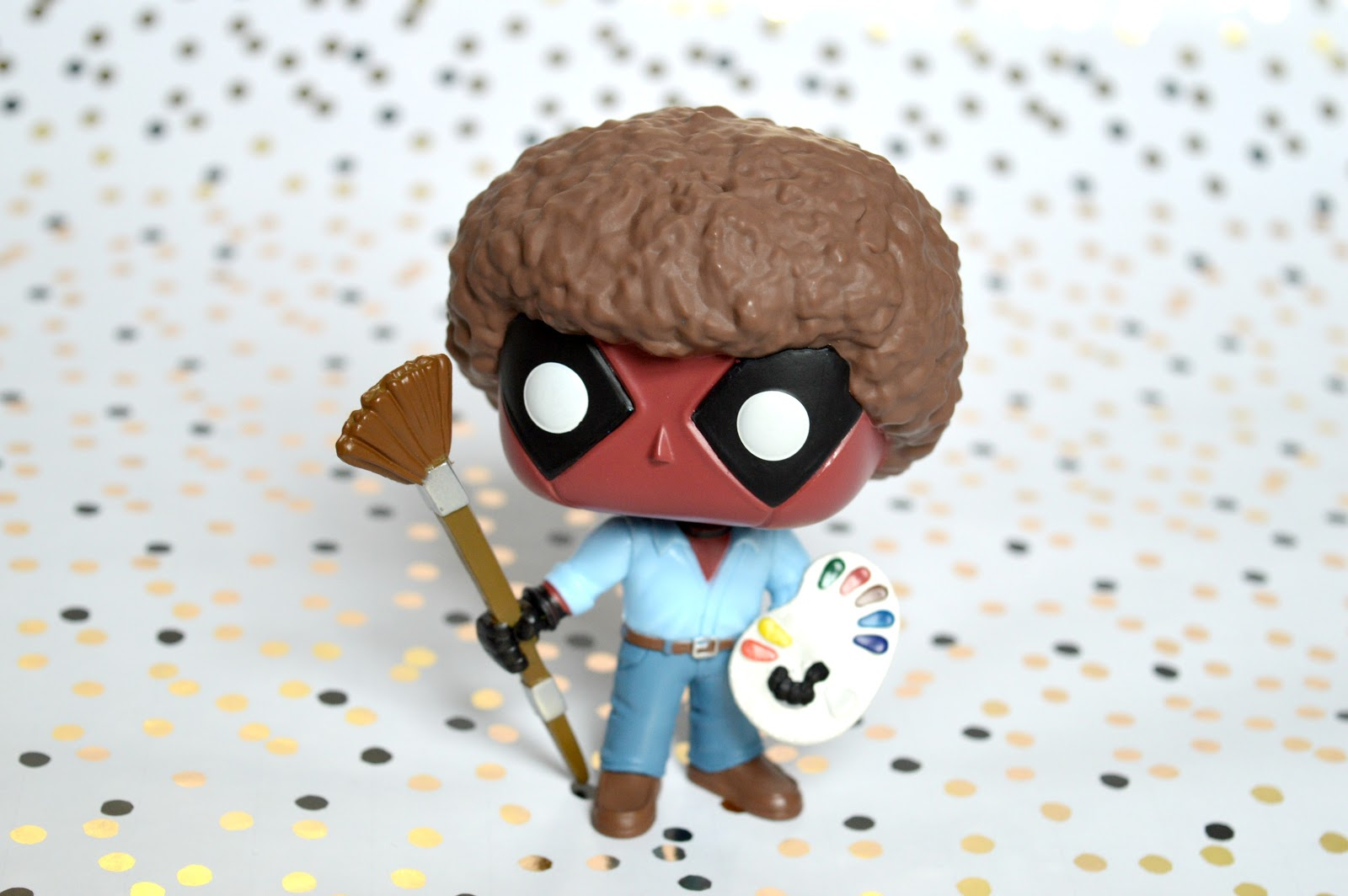 Deadpool as Bob Ross Funko POP Figure
