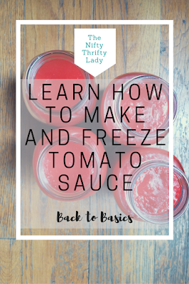 How to Make and Freezer Tomato Sauce