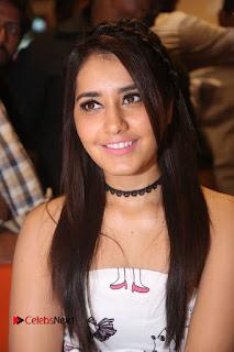 Rashi Khanna stunning cute in White shoulder less sleeveless Dress light pink glossy lipstick at Biryanis Restaurant Launch