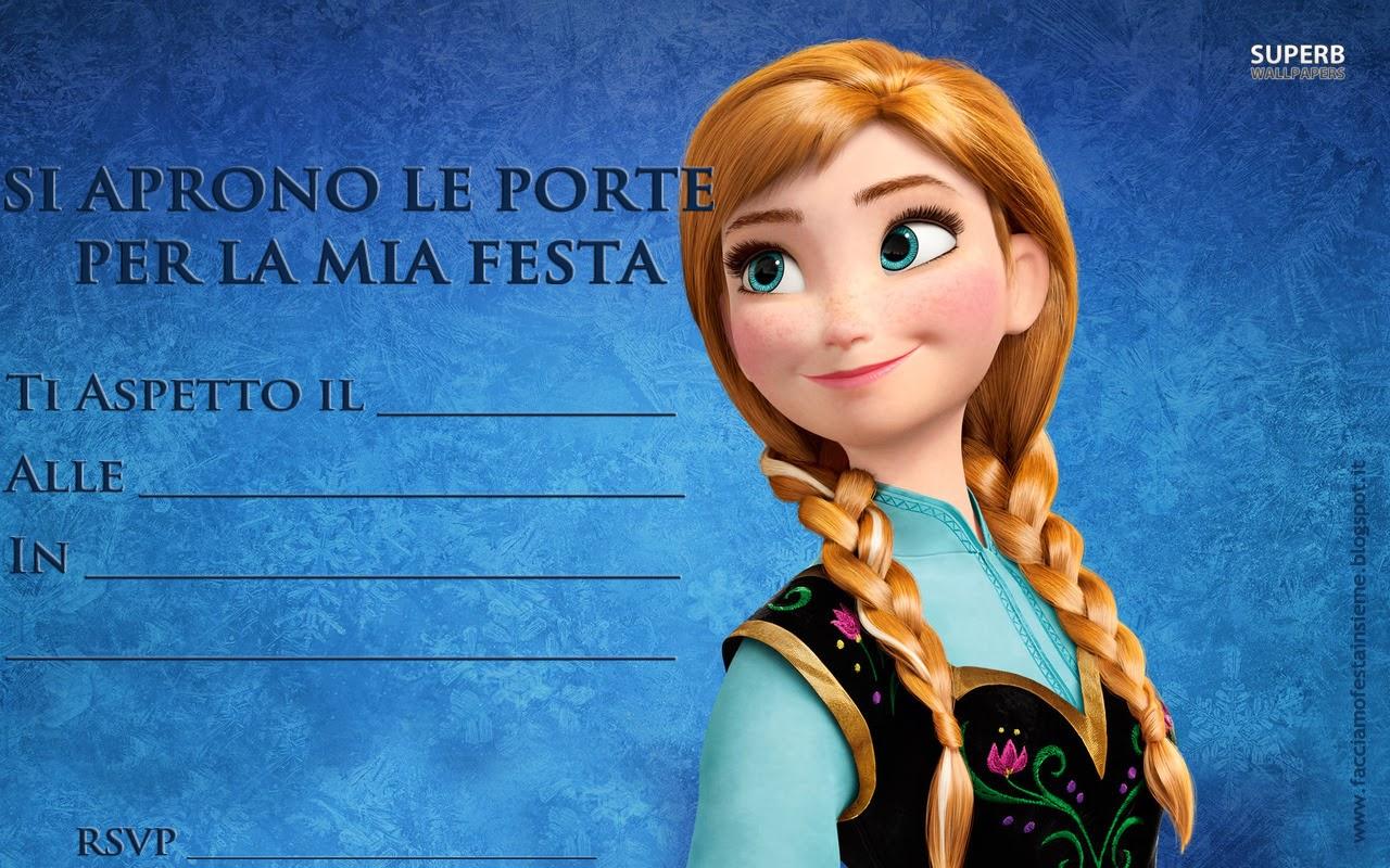 Super Frozen - La Regina del ghiaccio. Inviti di compleanno da stampare  DH24