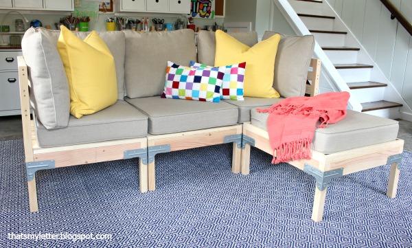 diy modular sofa and ottoman