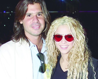 Foto de Shakira muy feliz junto a Antonio de la Rúa