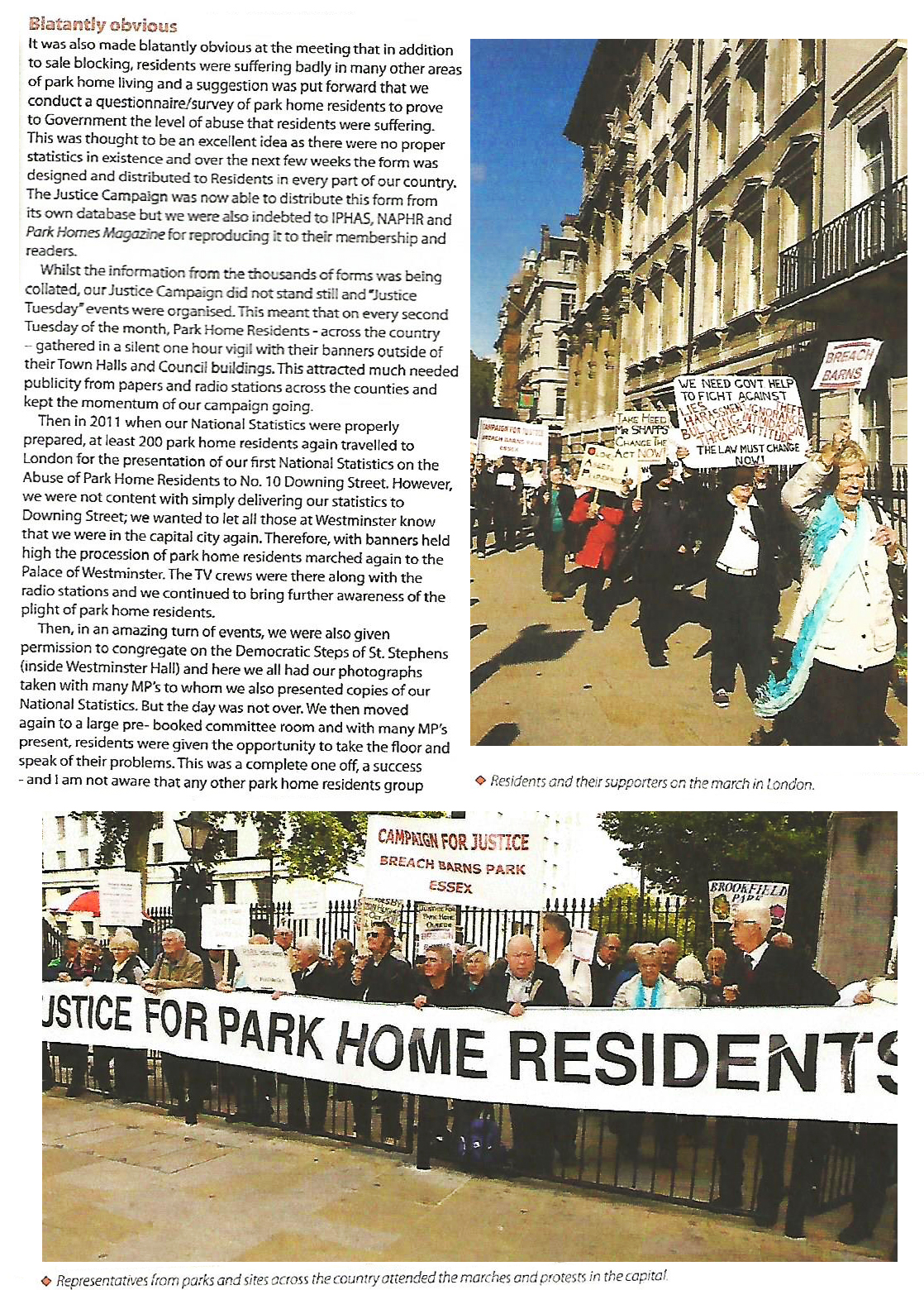 Park Home Owners Justice Campaign