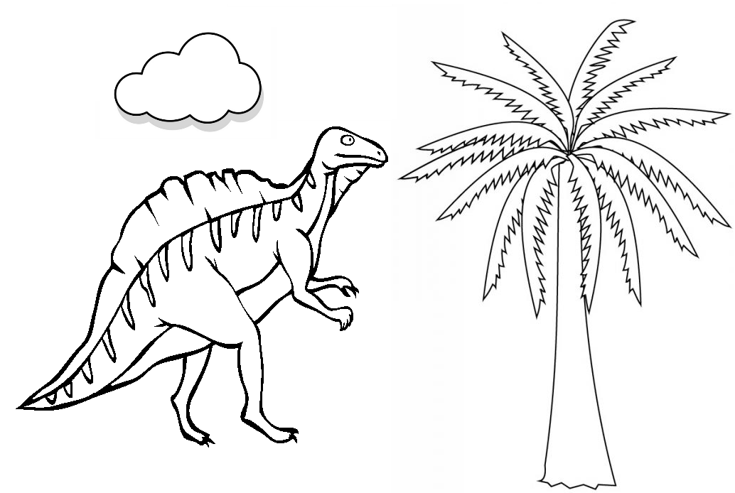 Dibujo Para Colorear De Dinosaurios Carnivoros