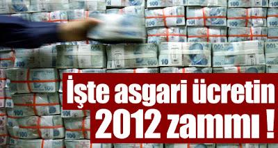 2012 yılı asgari ücret genel zammı