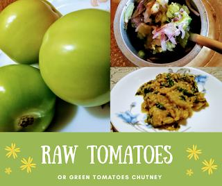 Raw tomato chutney