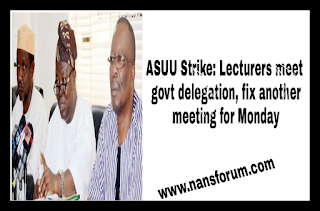 image for ASUU Strike: Lecturers meet govt delegation, fix another meeting for Monday