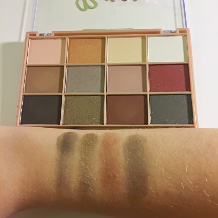 Beauty Treats Roses Eyeshadow Palette swatches
