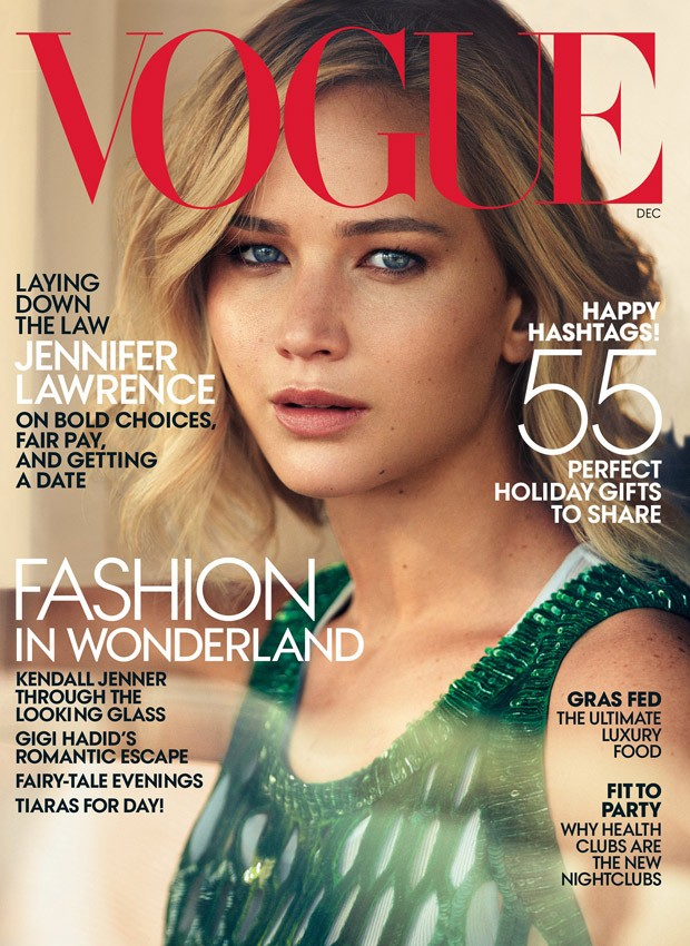 Jennifer Lawrence is the star of American Vogue December 2015