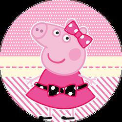 Toppers o Etiquetas de Miss Peppa Pig para imprimir gratis.