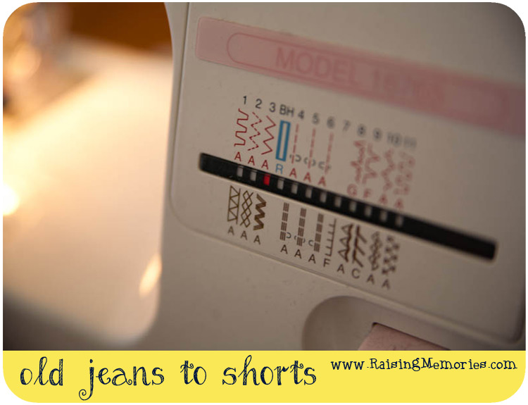 Jean Shorts from Jeans Tutorial