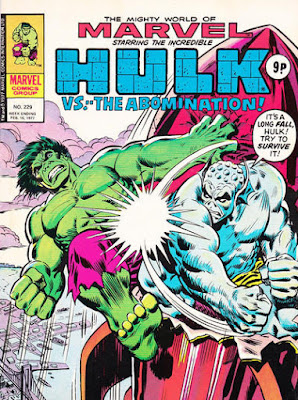 Mighty World of Marvel #229, Hulk vs Abomination