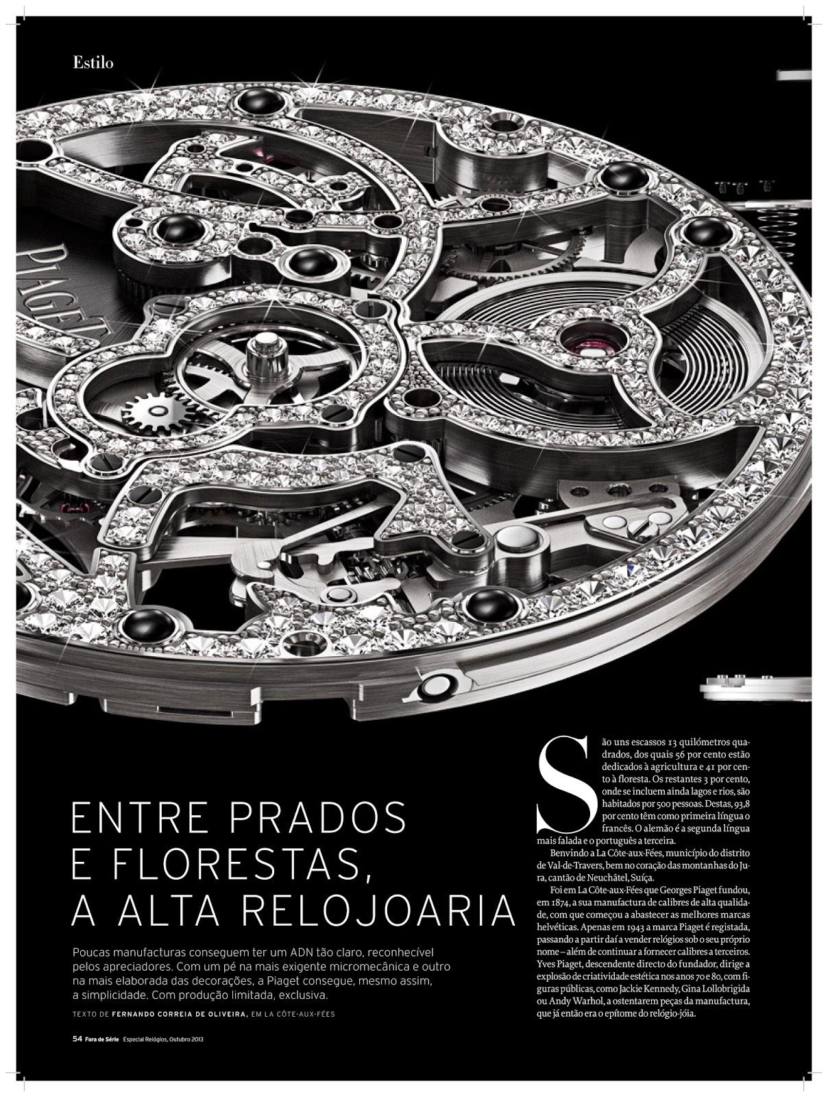 c4717705374 Estação Cronográfica  A arte da Piaget - reportagem no Fora de Série ...