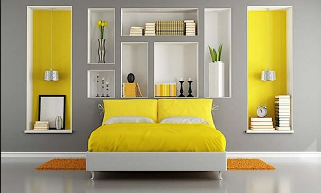 How to use the yellow color in the bedroom
