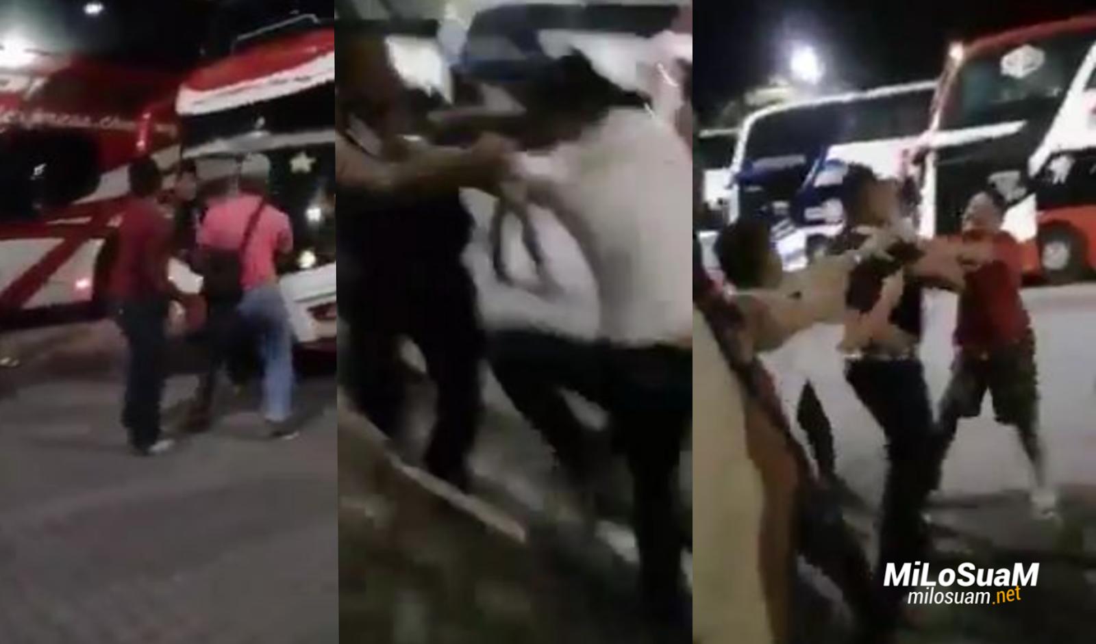 Pemandu bas kena pukul