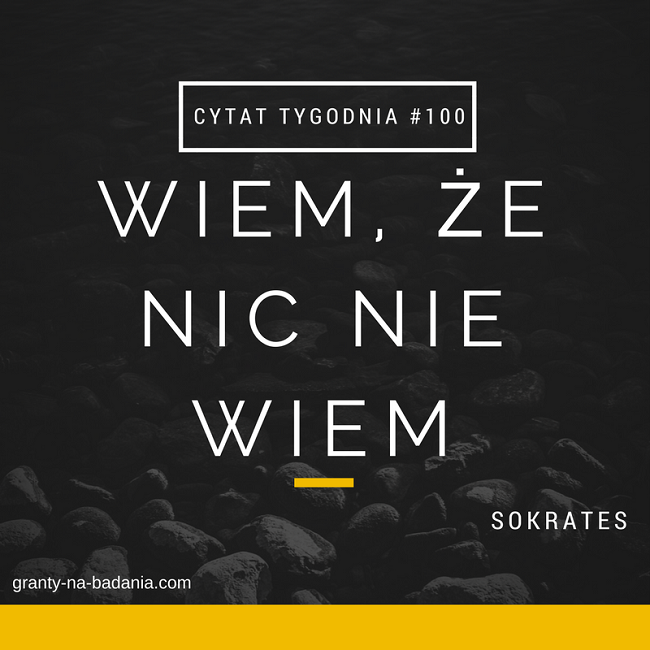 Wiem, że nic nie wiem - Sokrates