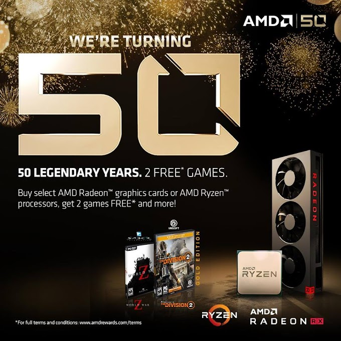AMD Reveals 50th Anniversary Celebratory Ryzen and Radeon Products