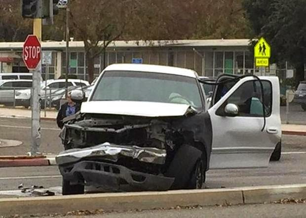 fresno suv pickup truck crash broadsided first street