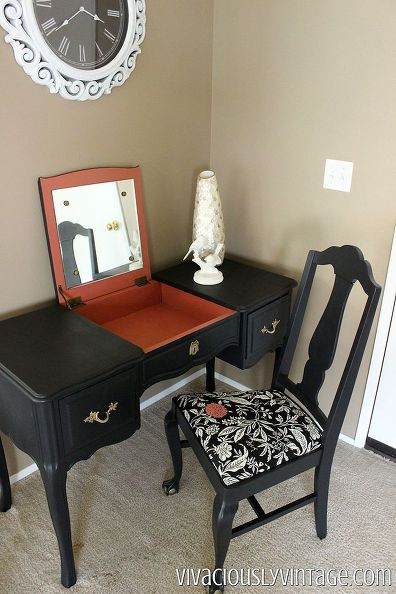 French Provincial Black Vanity