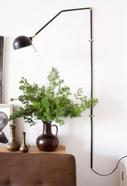 Diy swing arm wall lamp