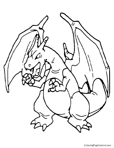 Charizard Coloring Pages With Pokemon Charizard Coloring Page