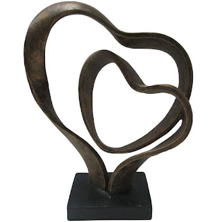 bronze heart sculpture eighth anniversary