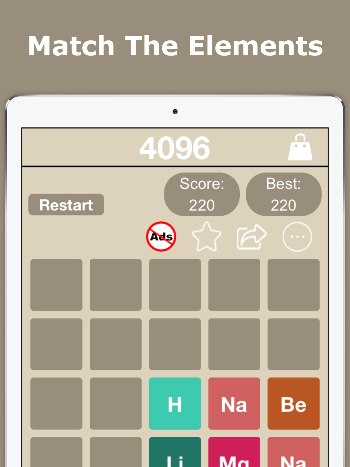 4096 number puzzle double the challenge endless fun game for match periodic table elements swipe and match to get the next element listed with in the table when you swipe and match hydrogen with hydrogen it gives gamestrikefo Images