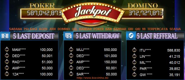 Sarana Pelangi Agen Judi Domino Qq Bandar Poker Dan Bandar Qiu Qiu 99 Terpercaya Seasia Biovinho