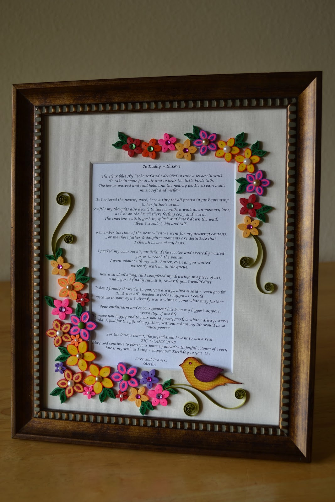 quilling ideas custom made quilled frame