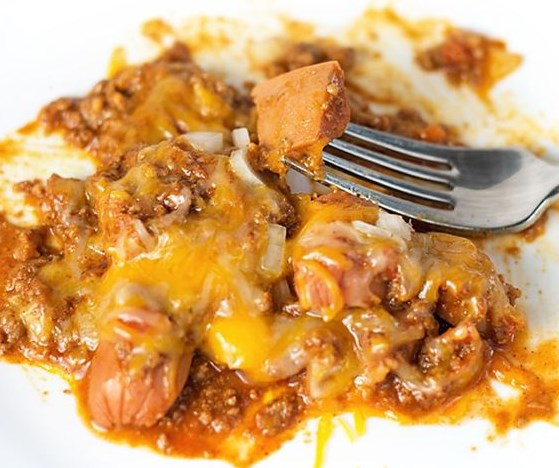 Low Carb Chili Dog Bake #LowCarb #Diet