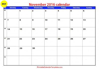 november 2016 printable calendar, november 2016 calendar, november 2016 blank calendar, november 2016 calendar template, november 2016 holiday calendar