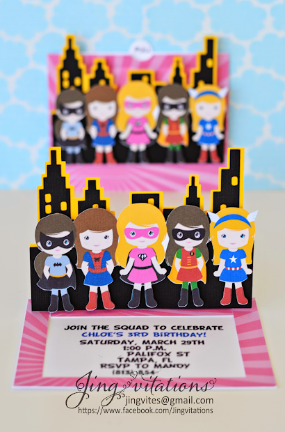 Super Girl Birthday Party Invitation