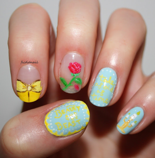 Beauty And The Beast Film Nail Art Disney