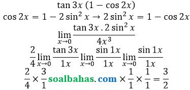 bahas limit x mendekati 0