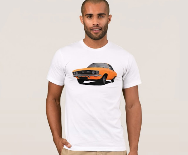 Opel Manta A orange t-shirt 70's