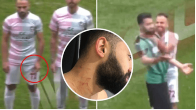 Σοκ στην Τουρκία! Ποδοσφαιριστής με λεπίδα στο γήπεδο (video)