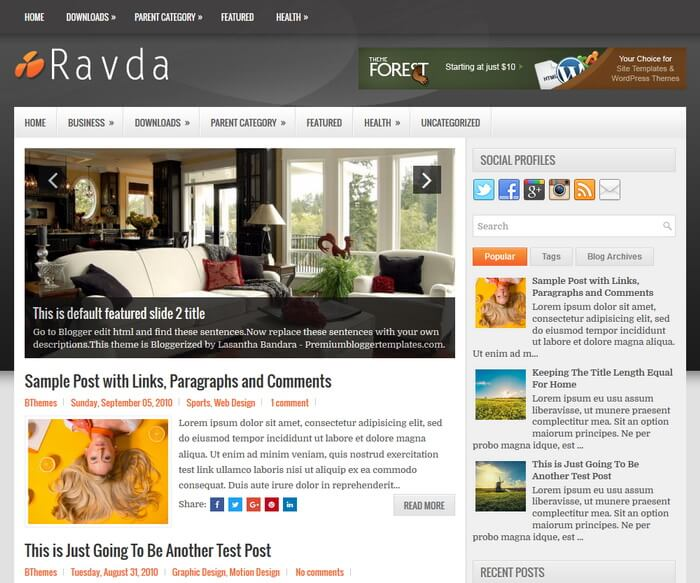 Btemplates ravda blogger template cheaphphosting Images