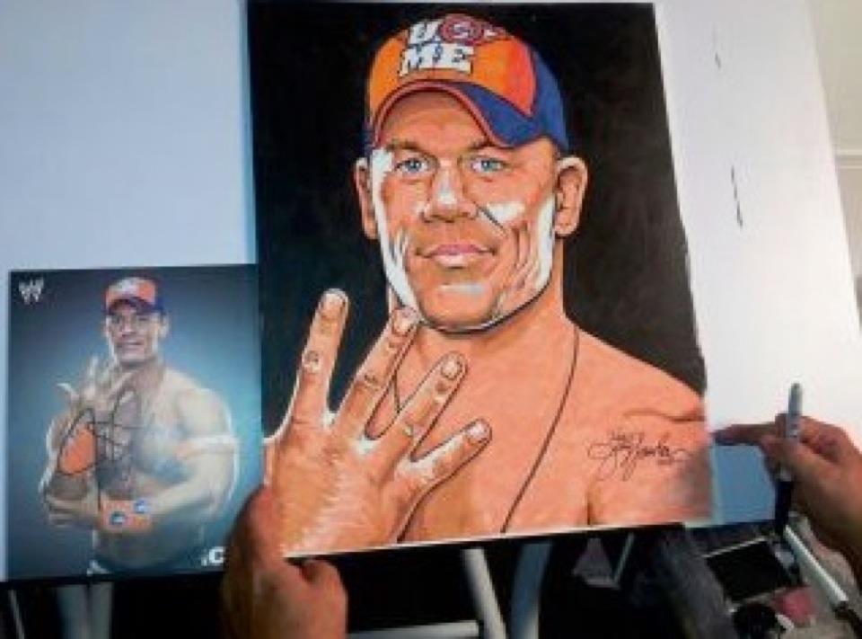 Wwe Kharma Baby Daddy of artwork for the WWE art
