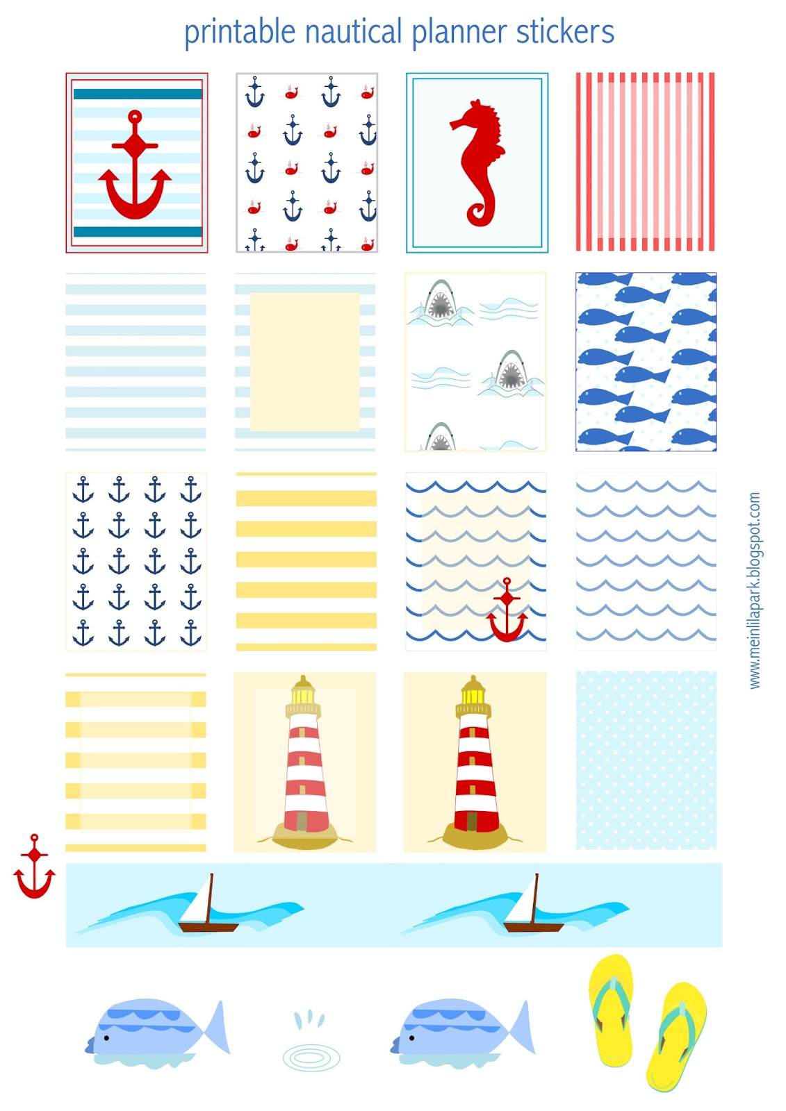 Free Printable Calendar Planner Flags And Markers
